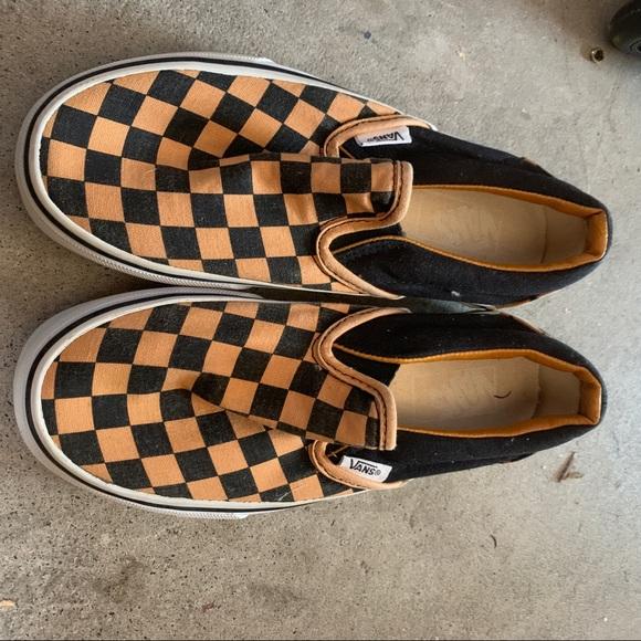 Vans Shoes | Orange And Black